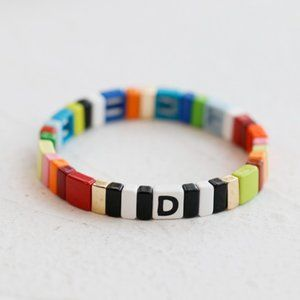 Roxanne Assoulin Alphabet Soup Bracelet - 'D'